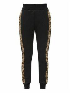 Fendi - Ff Logo-trimmed Technical Jersey Track Pants - Womens - Black