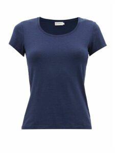 Ernest Leoty - Emilie Cap-sleeve Jersey T-shirt - Womens - Navy
