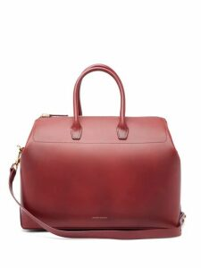 Mansur Gavriel - Travel Medium Leather Bag - Womens - Burgundy