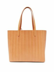 Mansur Gavriel - Pleated Leather Tote Bag - Womens - Tan Multi