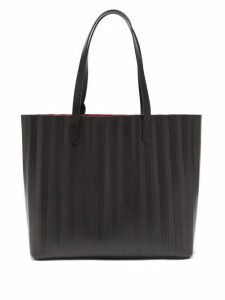 Mansur Gavriel - Pleated Leather Tote Bag - Womens - Black Multi