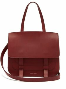 Mansur Gavriel - Messenger Leather Shoulder Bag - Womens - Burgundy
