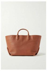 Khaite - Envelope Pleat Medium Textured-leather Tote - Orange