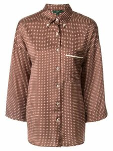 Jejia satin polka-dot shirt - Brown
