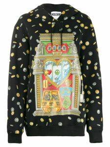 Moschino Casino print hoodie - Black