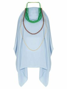 Jacquemus bead-embellished halterneck top - Blue