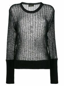 Andrea Ya'aqov open knit jumper - Black
