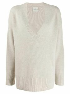Le Kasha faro v-neck jumper - Brown