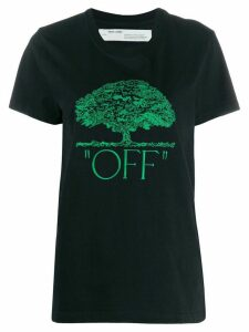 Off-White tree embroidery T-shirt - Black