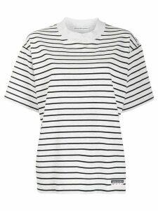 T By Alexander Wang two tone striped T-shirt - Grey