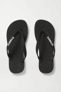 Vetements - Logo-embellished Rubber Flip Flops - Black