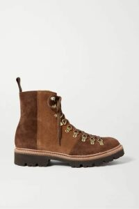 Grenson - Nanette Two-tone Suede Ankle Boots - Brown