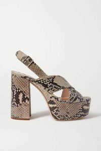 Miu Miu - Snake-effect Leather Platform Sandals - Snake print