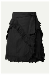 Isabel Marant Étoile - Milou Ruffled Broderie Anglaise Cotton Mini Skirt - Black