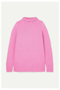 Joseph - Sloppy Joe Cotton-blend Turtleneck Sweater - Pink