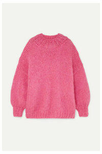 The Knitter - The Bubblegum Mohair-blend Sweater - Pink