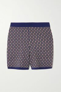 Preen by Thornton Bregazzi - Vera Paneled Intarsia Wool-blend Sweater - Red