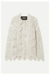 Runway Marc Jacobs - Crocheted Cotton Cardigan - Off-white