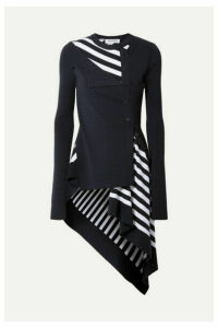 Monse - Paneled Striped Wool Sweater - Navy