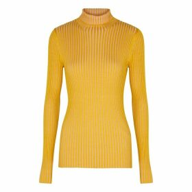 Sies Marjan Victoire Two-tone Ribbed-knit Top