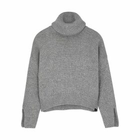 Oneteaspoon Winona Grey Roll-neck Cotton-blend Jumper