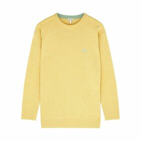 Loewe Yellow Anagram-embroidered Wool Jumper