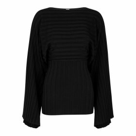 Totême Maristella Black Ribbed-knit Jumper