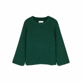 Mark Kenly Domino Tan Katarina Green Wool Jumper