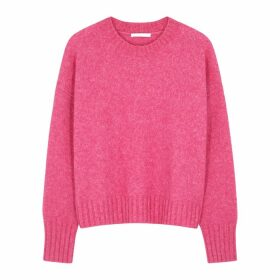 Helmut Lang Hot Pink Wool-blend Jumper