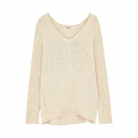 Free People Bright Lights Loose-knit Cotton-blend Jumper
