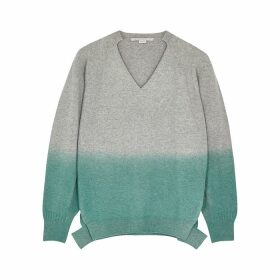 Stella McCartney Grey Dégradé Cashmere-blend Jumper