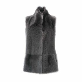 Gushlow & Cole Mixed Texture Shearling Gilet