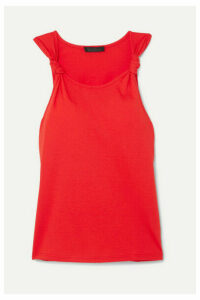 The Range - Knotted Cotton-jersey Tank - Red