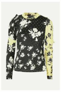 Preen Line - Konan Printed Stretch-jersey Top - Black