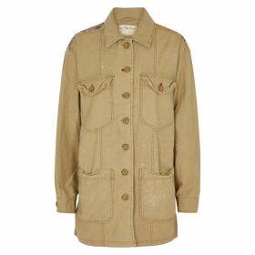 Free People Swept Up Appliquéd Twill Jacket