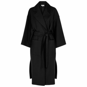 Loewe Black Oversized Wool-twill Coat