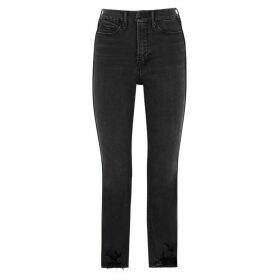 Good American Good Straight Grey Straight-leg Jeans