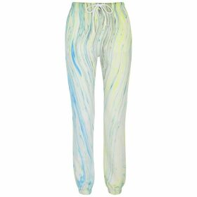 Cotton Citizen Milan Marble-print Cotton Sweatpants