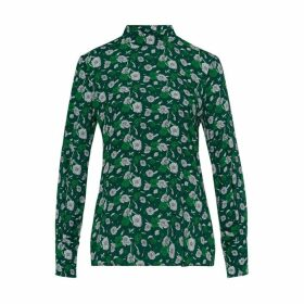 Ivy & Oak Stand Up Collar Blouse With Flower Print