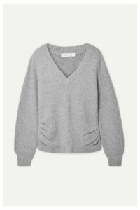 FRAME - Ruched Wool And Cashmere-blend Sweater - Gray