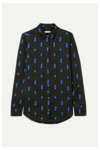 Equipment - Essential Printed Satin Shirt - Black