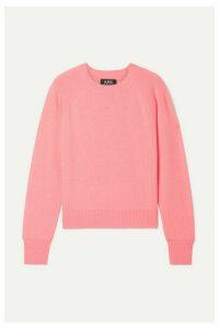 A.P.C. Atelier de Production et de Création - Stirling Cashmere Sweater - Coral