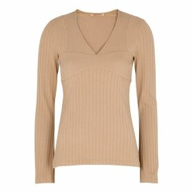 Maggie Marilyn Build Me Up Buttercup Ribbed Jersey Top