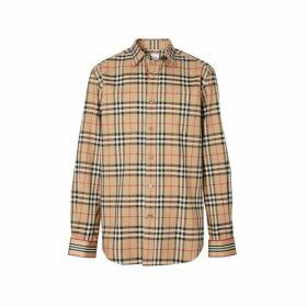 Burberry Icon Stripe Cuff Vintage Check Cotton Shirt