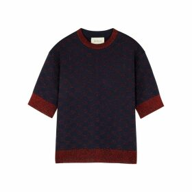 Gucci GG-intarsia Wool-blend Top