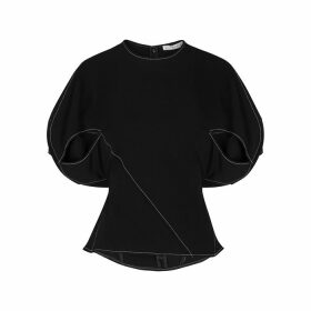 Rejina Pyo Marcie Black Panelled Top