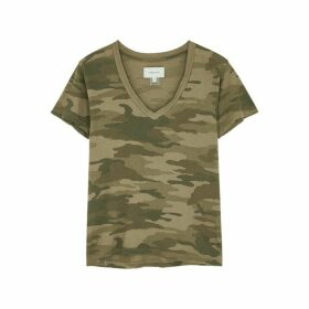 Current/Elliott Camouflage-print Cotton T-shirt