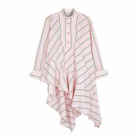 Palmer//harding Spicy Striped Asymmetric Poplin Shirt