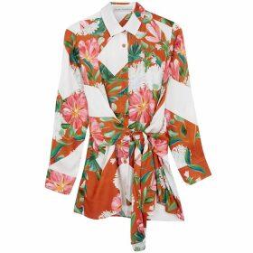 Palmer//harding Julia Floral-print Satin-twill Shirt