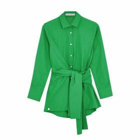 Palmer//harding Julia Green Poplin Shirt